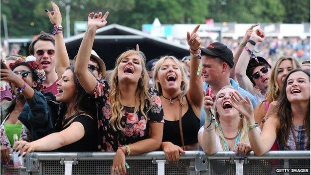 Festival-goers at Hylands Park