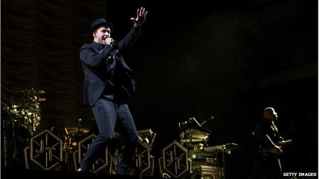 Justin Timberlake performing at V Festival at Hylands Park