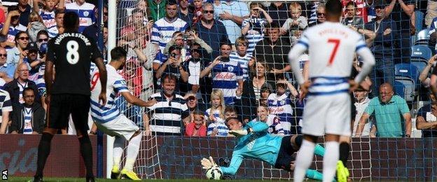 Allan McGregor saves a penalty