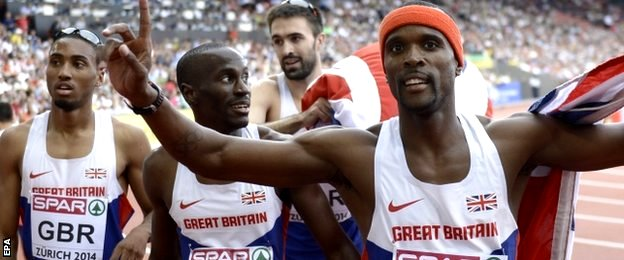 Britain's 4x400m men's relay team