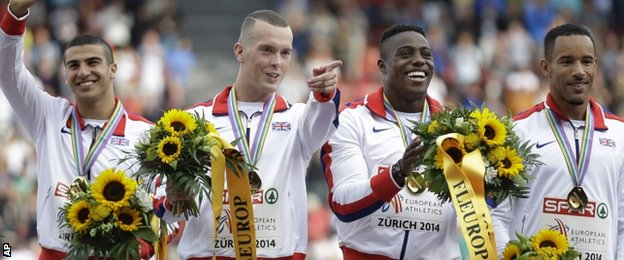 Britain's 4x100m men's relay team
