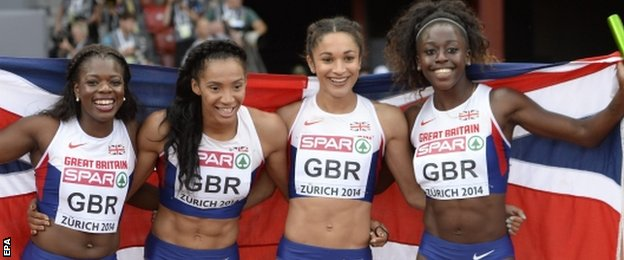 Britain's 4x100m women's relay team