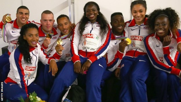 GB men and women's 4x100m relay teams