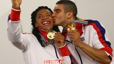 GB's Adam Gemili and Ashleigh Nelson
