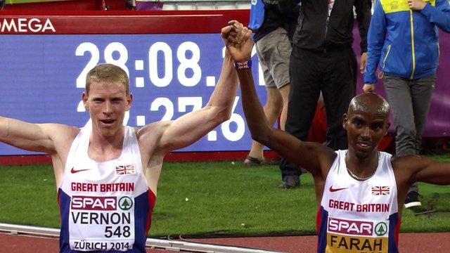European Championships: Radcliffe, Lewis, Cram, Jackson share moments