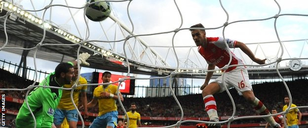 Aaron Ramsey scored for Arsenal