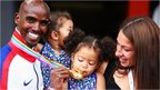 Mo Farah and his family