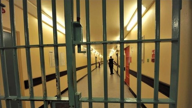 Interior of a prison