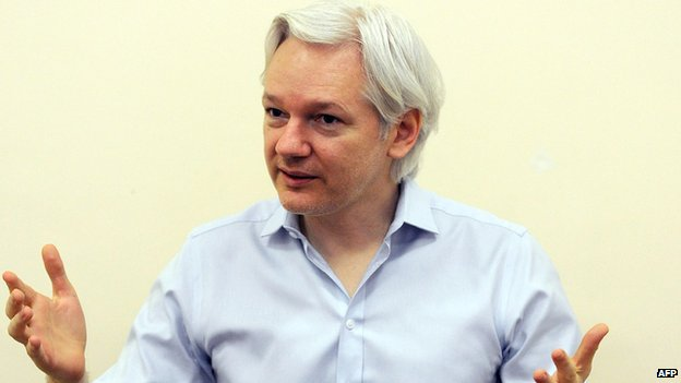 Julian Assange on 14 June 2013