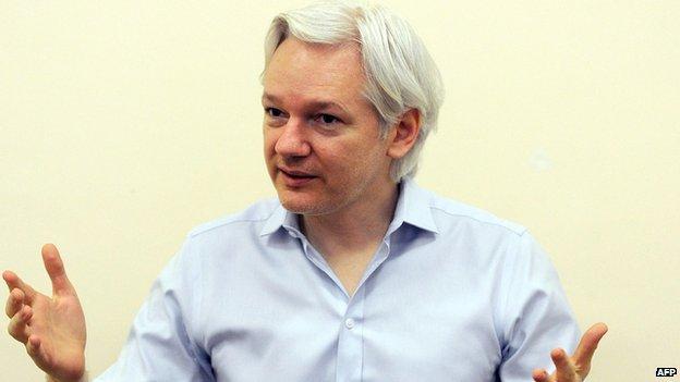 Julian Assange on 14 June 2013