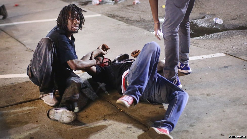 A protester is injured in Missouri