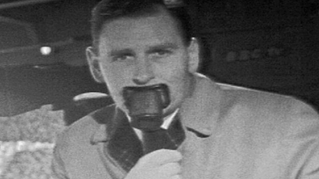 Match of the Day commentator Kenneth Wolstenholme
