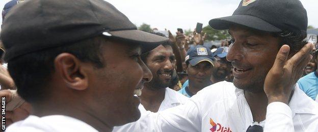 Mahela Jayawardene (left) and Kumar Sangakkara