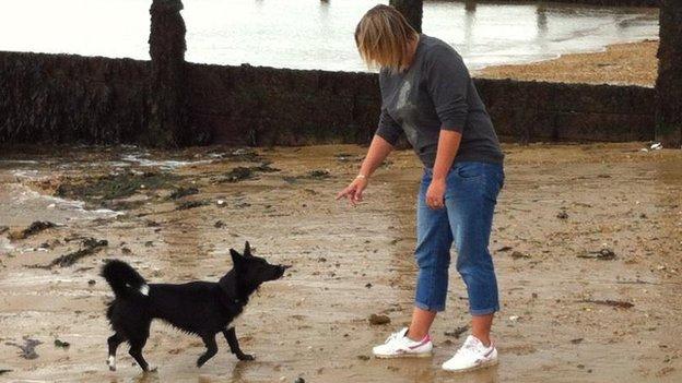 Clair Watson and dog