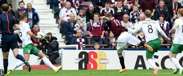 Sam Nicholson's strike lit up the match at Tynecastle
