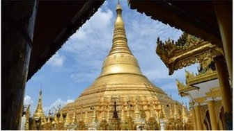 Picture of Schwedagon Pagoda in Yangon
