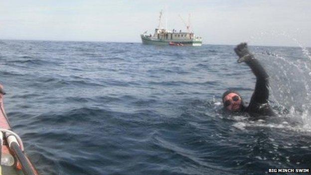 Big Minch Swim swimmer