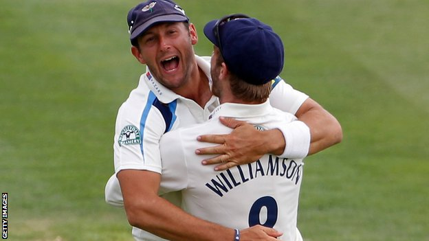 Tim Bresnan and Kane Williamson
