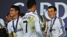 James Rodriguez, Cristiano Ronaldo and Gareth Bale