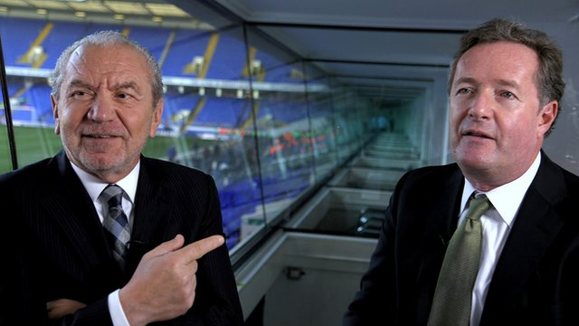 Lord Sugar (left) and Piers Morgan