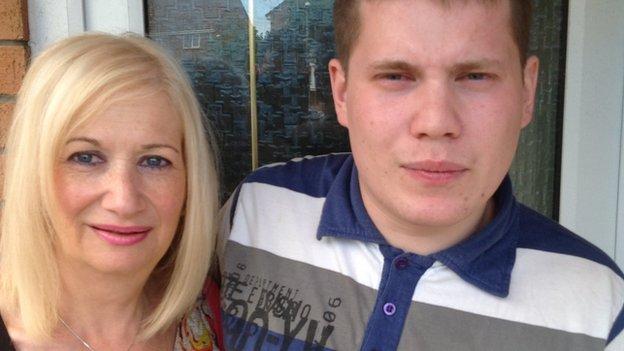 Karen Struel-White and her son Sam
