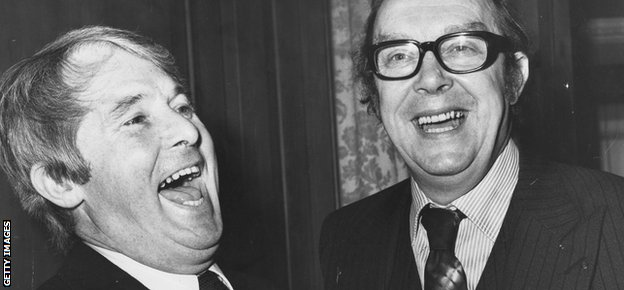Ernie Wise and Eric Morecambe