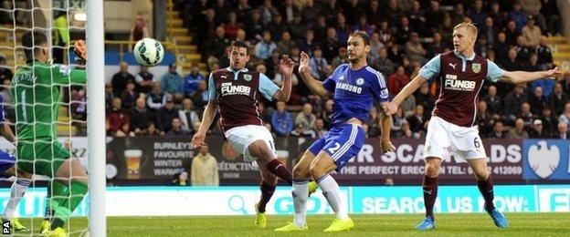 Branislav Ivanovic scores Chelsea's third goal