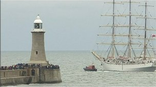 Tall Ships Race on Tyneside