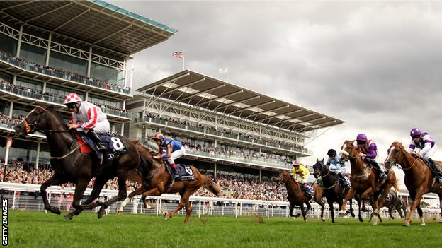 Sole Power ridden by Wayne Lorden wins the Coolmore Nunthorpe Stakes at the Ebor Festival