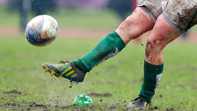 Action from a Irish women's rugby match