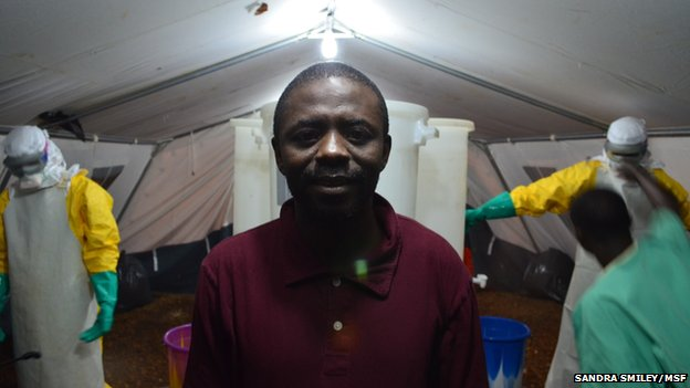 Community health worker Saidu, who contracted Ebola