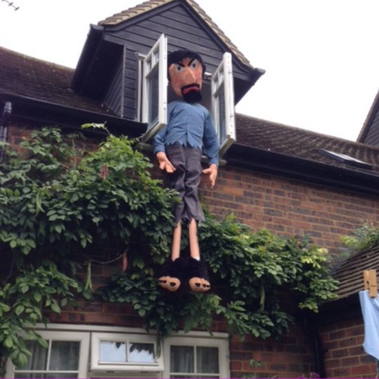 Jack and the Beanstalk scarecrow