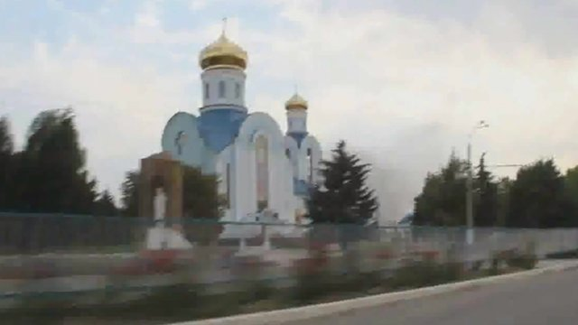 An orthodox church in Luhansk