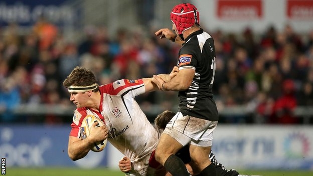 Ulster's Robbie Diack in action against Zebre last season