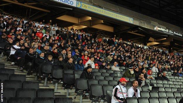 MK Dons fans at Stadium MK