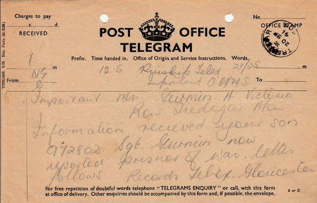 Eddie Gurmin telegram