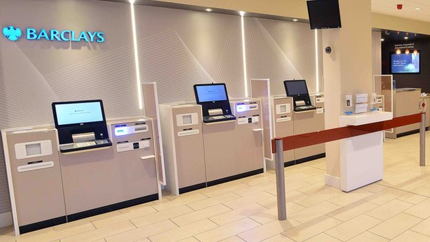 Barclays self service machines