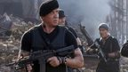 Sylvester Stallone (front) with Antonio Banderas in The Expendables 3