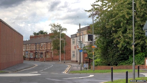 Crosby Road, viewed from The Link in Northallerton