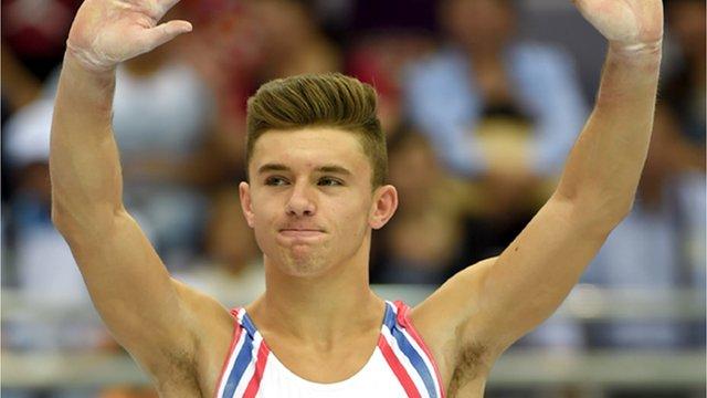 British gymnast Giarnni Regini-Moran