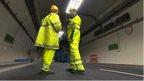 Engineers in A38 tunnels in Birmingham