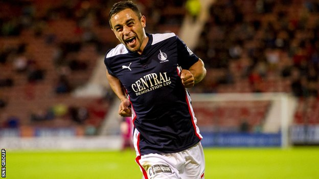 Tom Taiwo scored both of Falkirk's goals
