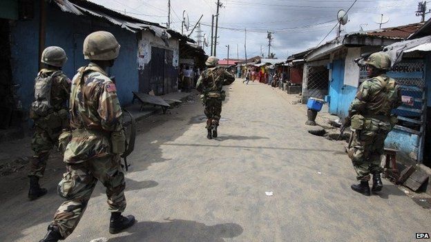 77048842 77048824 Shots fired at Liberia Ebola protest