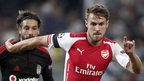 Aaron Ramsey sent off