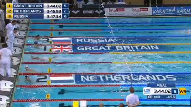 GB winning 4x100 mixed medley
