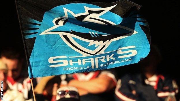 Cronulla Sharks flag