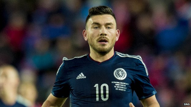 Scotland and Hull City's Robert Snodgrass
