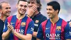 Thomas Vermaelen and Luis Suarez