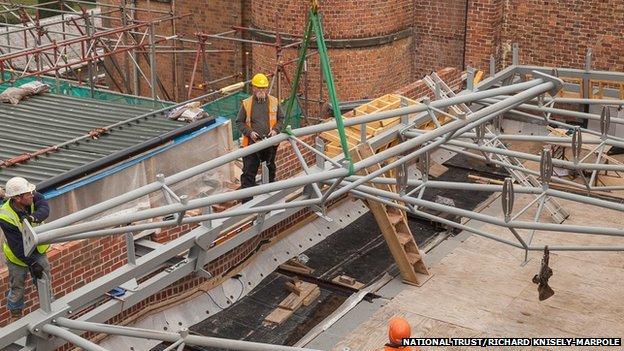 Steel structure installed
