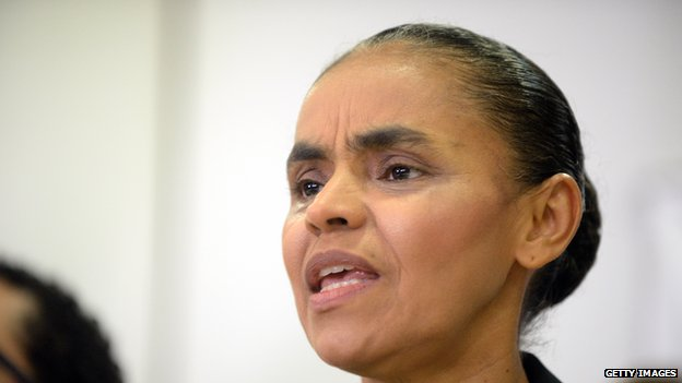 Marina Silva speaks during a press conference in Brasilia on 4 October, 2013.